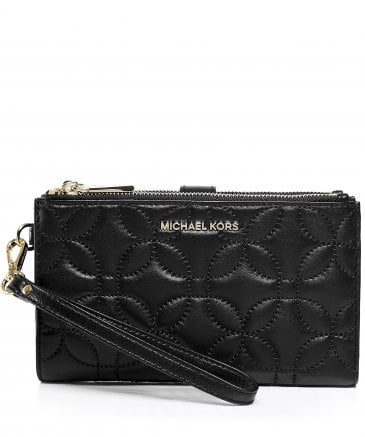 MICHAEL Michael Kors Women's Leather Quilted Smartphone Wristlet