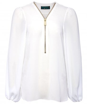 Holland Cooper Women's Chiffon Zip Shirt