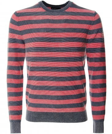 Knitted Cotton Striped Jumper