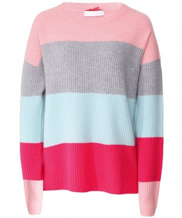 Cashmere Striped Crew Neck Jumper