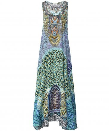 Silk Marrakesh Sleeveless Maxi Dress