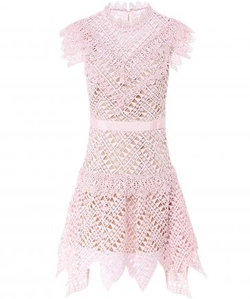 Abstract Triangle Lace Dress