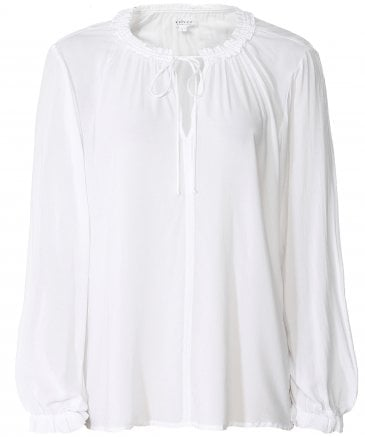 Samantha Ruffle Collar Top