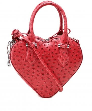 Leather Johanna Strawberry Heart Handbag
