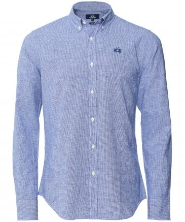 La Martina Men's Slim Fit Leon Shirt