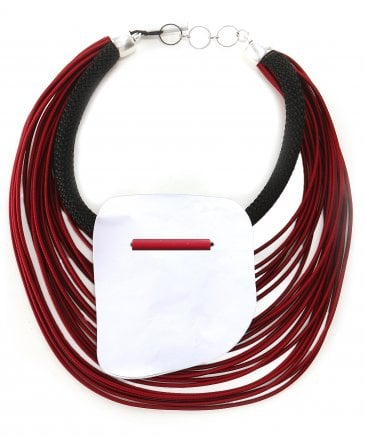 Multi Elastic Cord Plexiglas Necklace