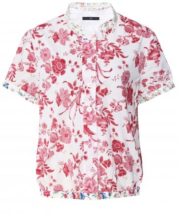 Cheerio Floral Short Sleeve Blouse