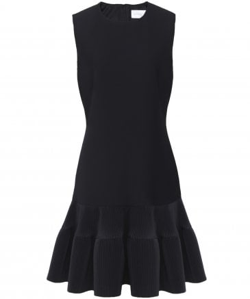 Pleated Hem Shift Dress