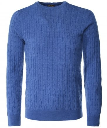 Merino Wool Cable Knit Jumper