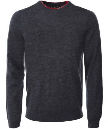 Merino Wool Stripe Trim Jumper