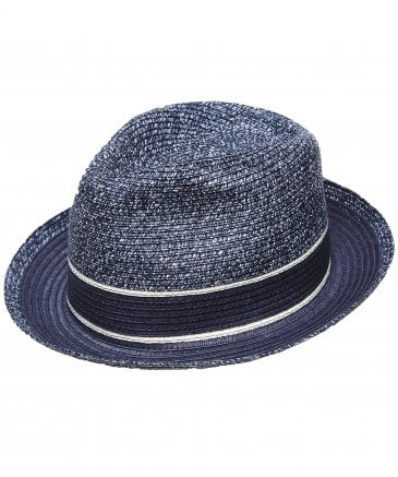 Hackett Men's Marl Straw Trilby Hat