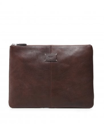 Hackett Men's Leather Foxley Portfolio Pouch