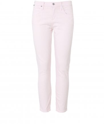 Elsa Mid Rise Slim Fit Cropped Jeans