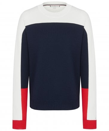 Jaden Colour Blocked Crew Neck Jumper