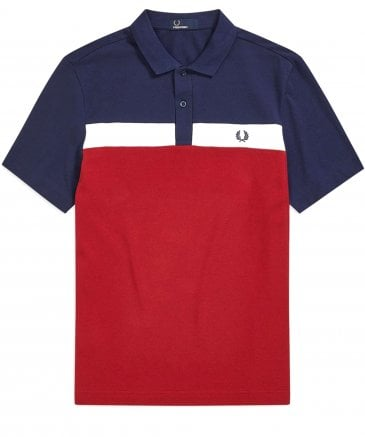 Contrast Panel Polo Shirt M5577 A25