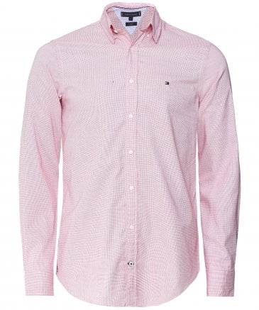Slim Fit Dobby Cotton Shirt