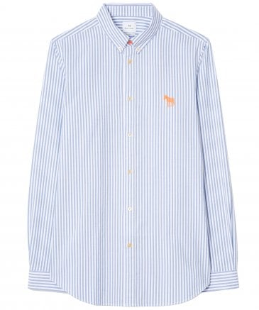 Tailored Fit Striped Zebra Oxford Shirt