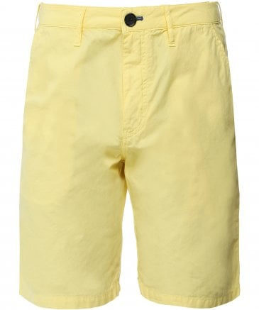 Lightweight Washed Cotton Shorts