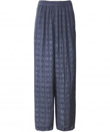 Silk Bubble Pattern Trousers
