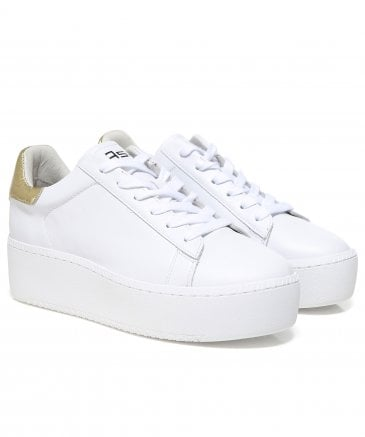 Leather Cult Platform Trainers