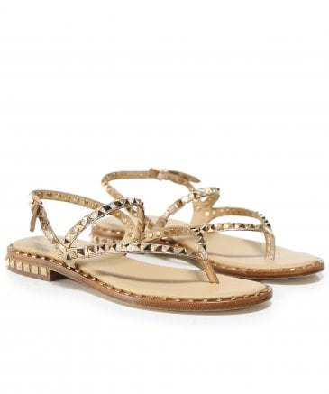 Ash Women's Leather Peps Studded Sandals