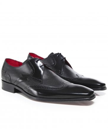 Perforated Leather Scarface Shoes