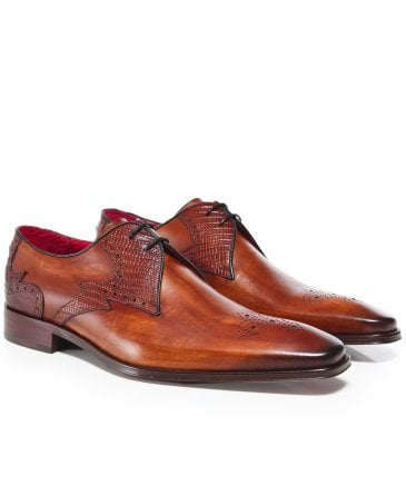 Burnished Leather Scarface Shoes