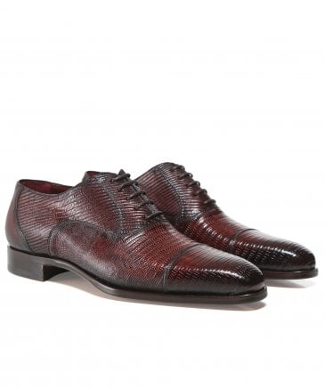 Lizard Leather Oxford Shoes