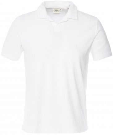 Towelling Revere Collar Polo Shirt