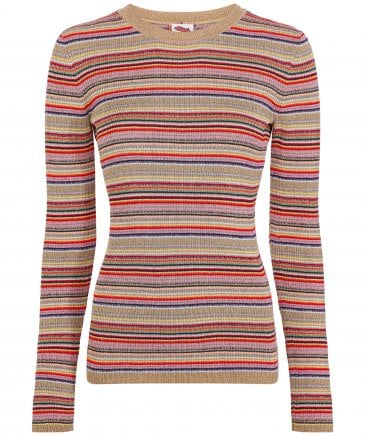 Tommy Hilfiger Women's Zendaya Lurex Stripe Jumper