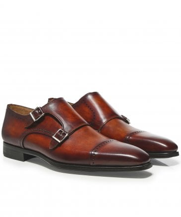 Leather Double Monk Strap Thunder Shoes