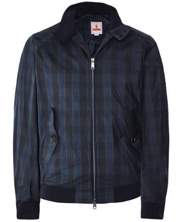 Lightweight G9 Tartan Harrington Jacket