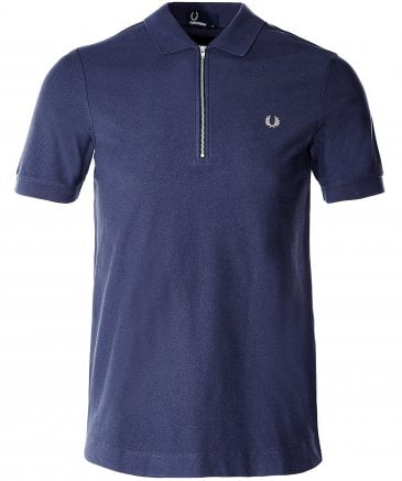 Zip-Neck Polo Shirt M5580 738