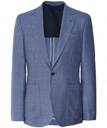 Wool Blend Houndstooth Jacket
