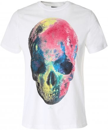 PS by Paul Smith Men's Multicoloured Skull T-Shirt