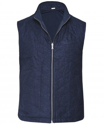 Reversible Quilted Linen Gilet