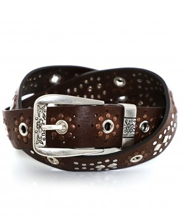 Nanni Women's Studded Leather Belt