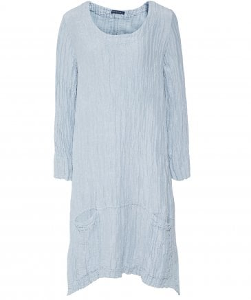 Linen and Silk Blend Crinkled Tunic