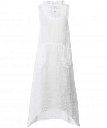 Linen Sleeveless Flared Dress