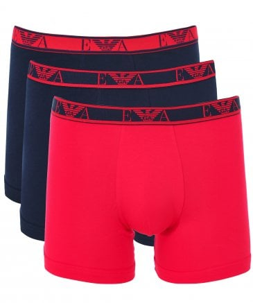 Stretch Cotton Boxer Shorts Three Pack