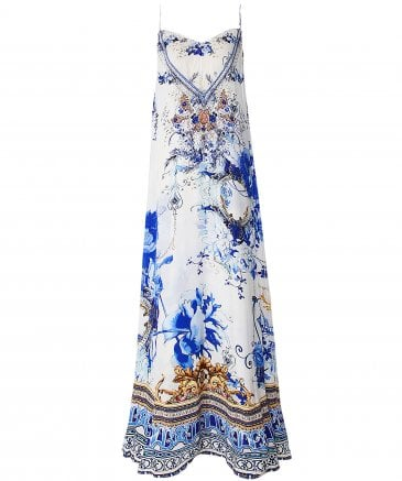 Silk Saint Germaine Maxi Dress