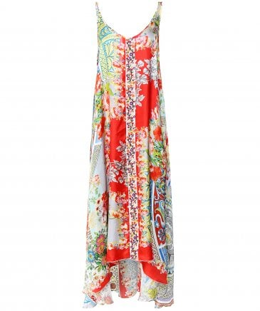 Silk Kara Floral Print Dress