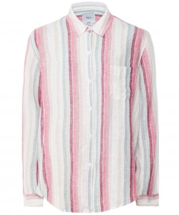 Linen Blend Striped Lurex Charli Shirt