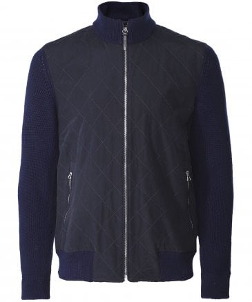 Water-Repellent Quilted Bomber Jacket