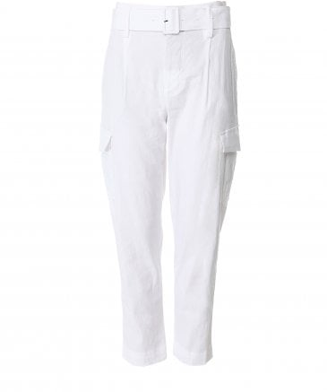 Linen Blend Belted Trousers
