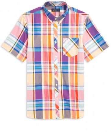 Short Sleeve Madras Check Shirt M5561 943
