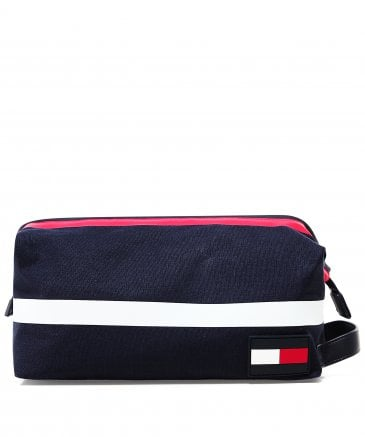 Cotton Colour Block Wash Bag
