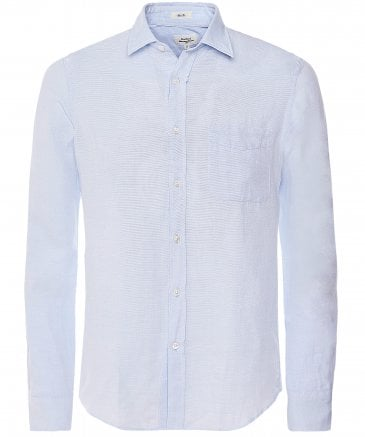 Slim Fit Pique Cotton Storm Shirt