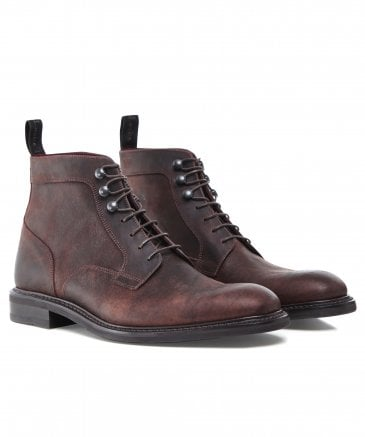 Waxed Leather Crow Derby Boots