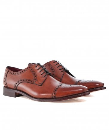Leather Semi-Brogue Foley Derby Shoes